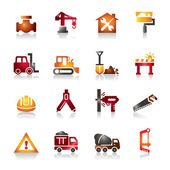Construction Colorful Icons — Stock Vector