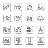 İnşaat doodle simgeler — Stok Vektör