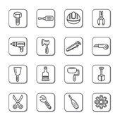 Construction Tools Doodle Icons — Stock Vector