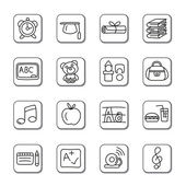 Education Doodle Icons — Stock Vector