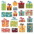 Colorful Gift Box Collection — Stock Vector #54159889