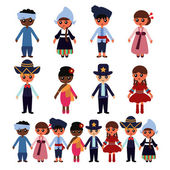 Multicultural Kids — Stock Vector