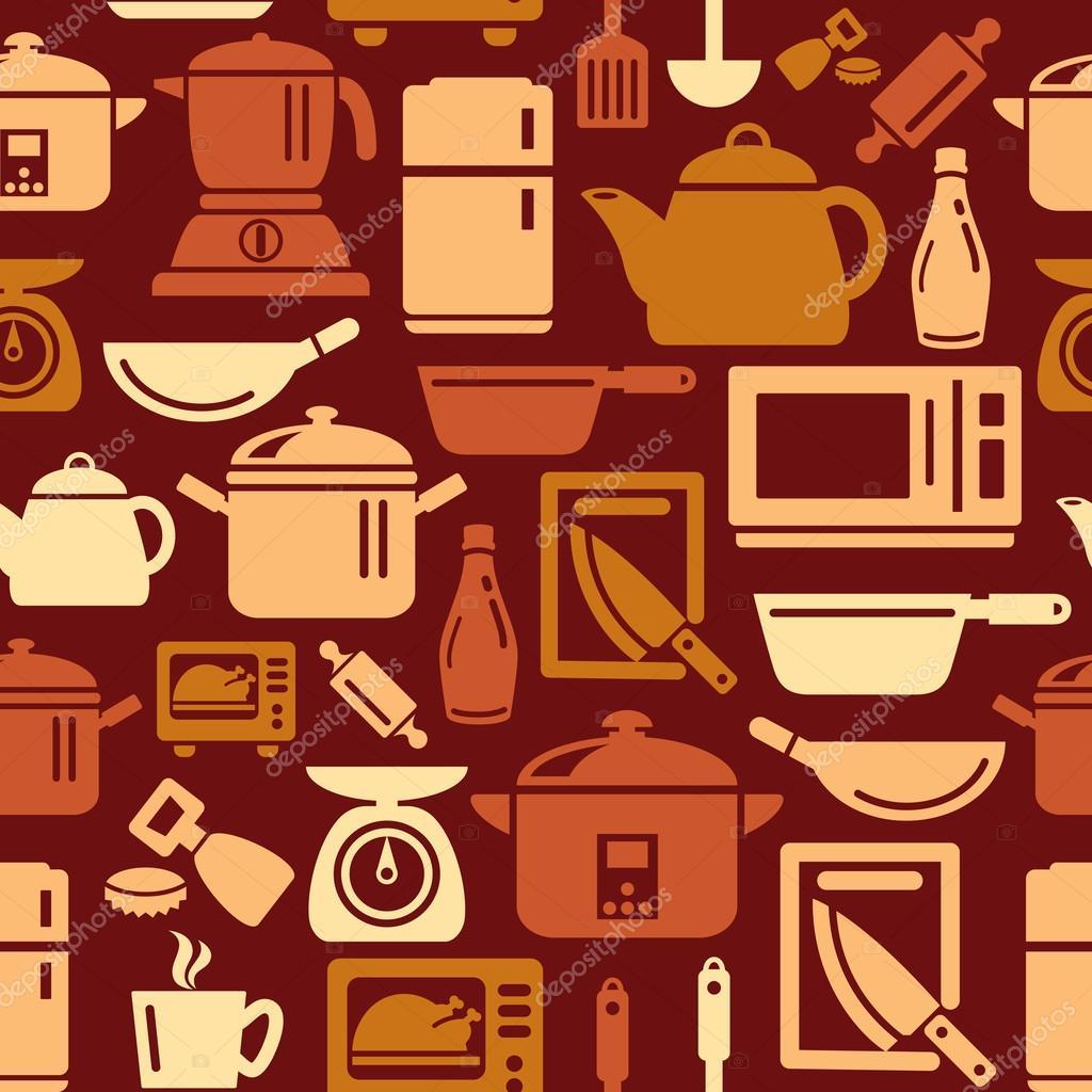 Iconos de utensilios y electrodom sticos de cocina en for Utensilios de cocina fondo