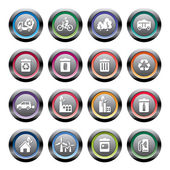 Environmental Protection Icons — Stock Vector