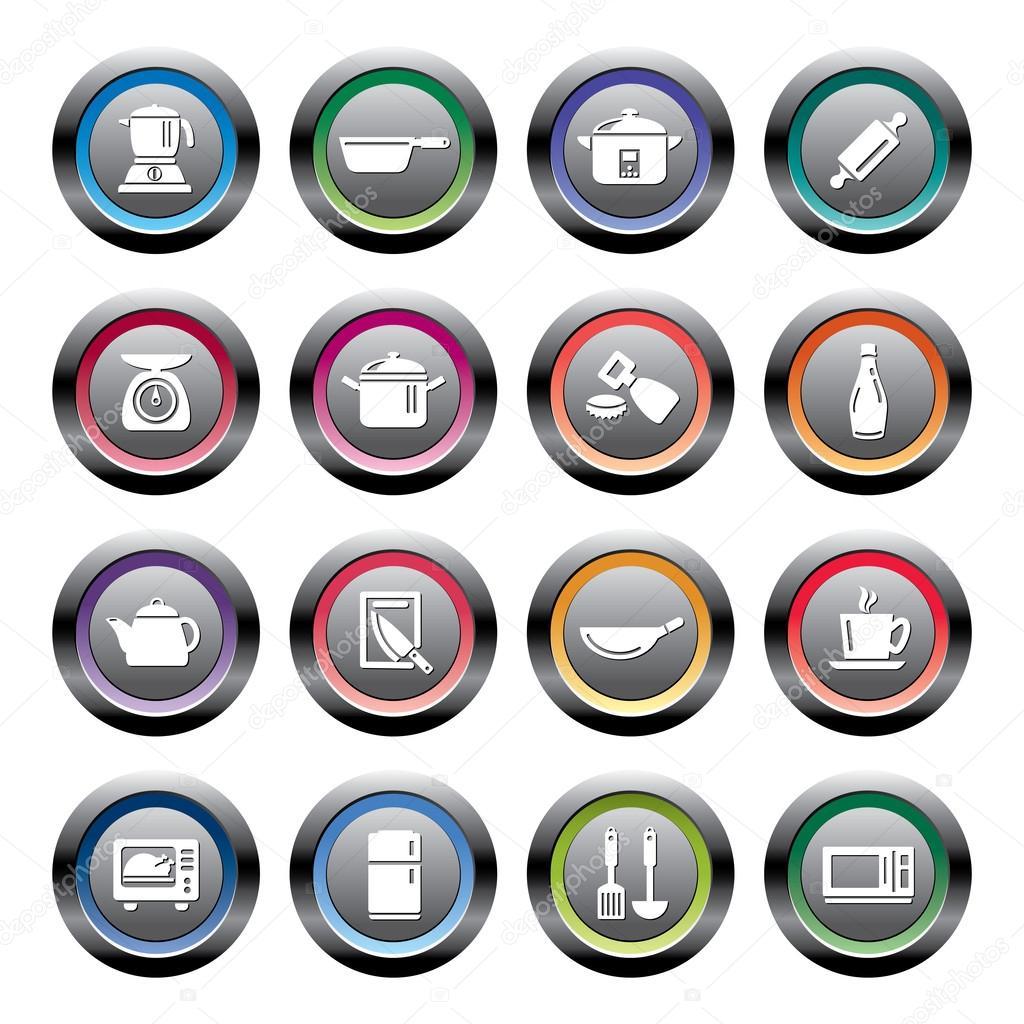 Iconos de utensilios y electrodom sticos de cocina for Empresas de utensilios de cocina