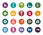 Buildings and Construction Color Icons — Stock Vector