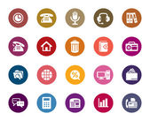 Business and Communication Color Icons — Stock Vector