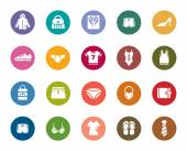 Clothing and Accessories Color Icons — Stock Vector