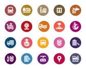 Logistyka i transport kolor ikony — Wektor stockowy