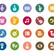 Music Color Icons — Stock Vector #56681657
