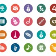 Music Color Icons — Stock Vector #56681723