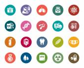 Medical Color Icons — Stock Vector