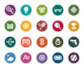 Sport Competition Color Icons — Stock Vector