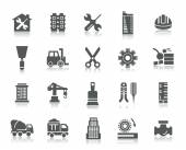 Buildings and Construction Icons — Stock Vector