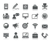 Business and Communication Icons — Vector de stock