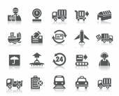 Logistics and Transport Icons — Stock Vector