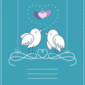 Birds in Love — Stock Vector