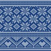 Seamless Christmas knitted pattern — Vecteur