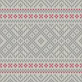 Knitted seamless geometric pattern. Vector background — Stock Vector