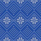 Maglieria seamless pattern — Vettoriale Stock