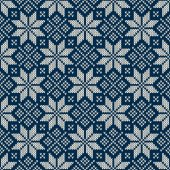 Winter Holiday Seamless Knitted Pattern — Vecteur