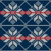 Seamless Knitting Pattern. Winter Holiday Sweater Design — Vecteur