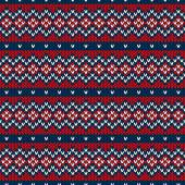 Winter Holiday Seamless Knitted Pattern — Vector de stock