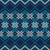 Seamless Knitted Pattern. Festive and Fashionable Sweater Design — Stock Vector