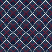 Argyle Sweater Design. Seamless Pattern — Stock Vector