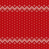 рождественский дизайн свитера. бесшовный образец — Cтоковый вектор