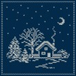 Winter Holiday Landscape. Christmas Sweater Design. Seamless Kni — Stock Vector #58710161