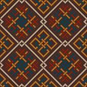 Celtic Plexus Design Pattern. Knitted Wool Seamless Background — Stok Vektör