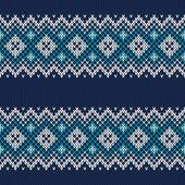 Knitted Sweater Design. Seamless Pattern — Stok Vektör