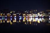 Night city bokeh.Out focus traffic. — Photo