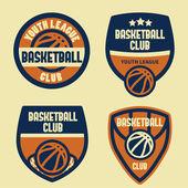 Basketball badegs — Stock Vector