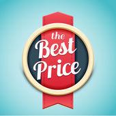 Retro badge best price — Stock Vector