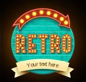 Retro sign — Stock Vector