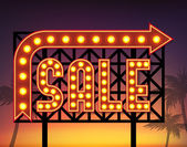 Retro sale banner — Stock Vector