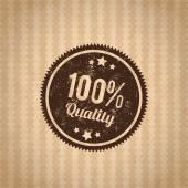 Badge quality — Stock Vector