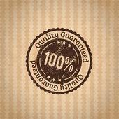 Badge quality guaranteed — Stock Vector