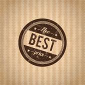 Badge the best price sale — Stock Vector