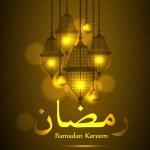 Ramadan background with Ramadan Kareem — Stock Vector #61631231