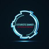 Circular futuristic banner — Stock Vector