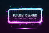 Rectangular futuristic banner — Stock Vector