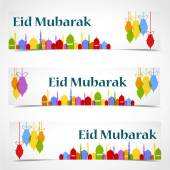 Eid Mubarak celebrations card — Stock Vector