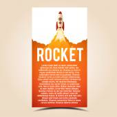 Rocket launch icon — Stock Vector