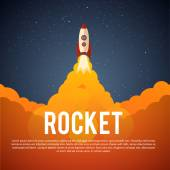Rocket launch icon — Stock Vector