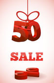 SALE with 50 percent — Stock Vector