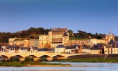 Amboise at sunset — Foto Stock