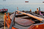 Traditional Galician boat — Stock Photo